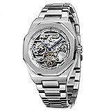 Reloj de hombre de la marca superior, automático, mecánico, de acero...