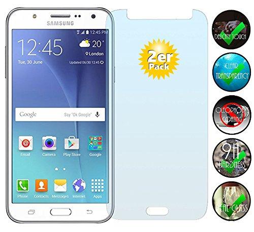 Smartphone Equipment [2er Pack] Panzerglas für Samsung Galaxy J5 2015 gehärtetes Glas 9H, Echtglas Glasfolie Panzerglasfolie Panzerfolie Folie Displayschutz Schutzfolie