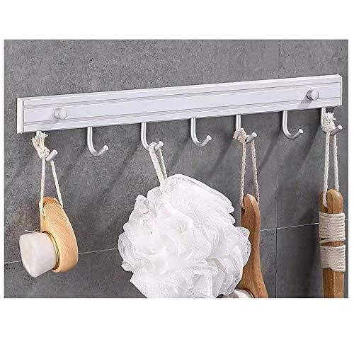 Gancho de capa de pared de pared de aluminio sin agujero libre, fácil de instalar, gancho de hotel de múltiples gancho múltiple-C5 resistente a la corrosión fácil de limpiar e higiénico