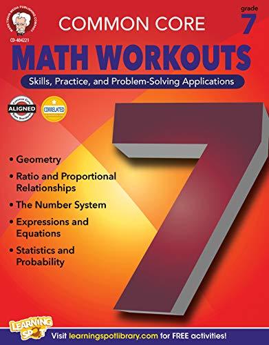Mark Twain Media | Common Core Math Workouts Workbook | 7th Grade, 64pgs