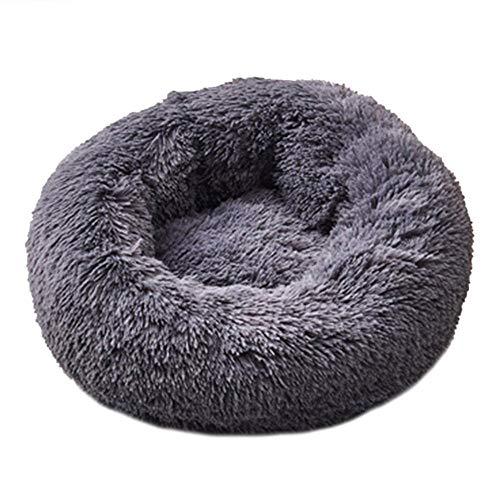 Yabaiishi Super Soft Dog Bed, wasbaar, lang, pluche, diep voor honden, Chihuahua, XL 80 cm, Zwart