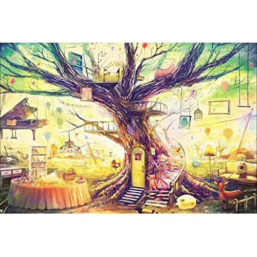 FYJK Fantasy Tree House Paysage Enfants en Bois Adultes...