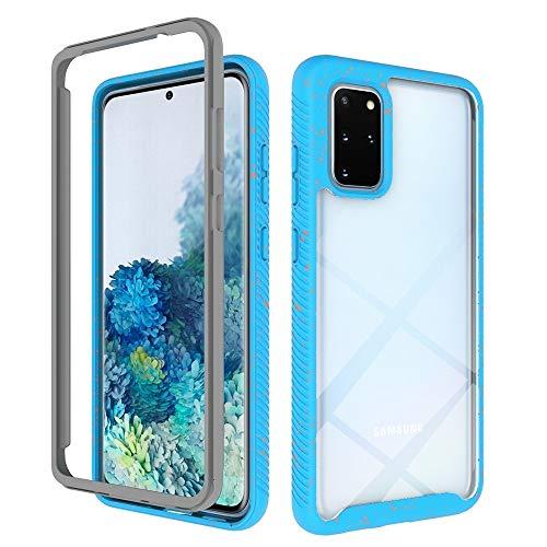 CAPOOK For el Caso Protector de TPU Cielo Estrellado Samsung Galaxy S20 + PC + a Prueba de Golpes Lentejuelas de la Caja del teléfono (Color : Sky Blue)