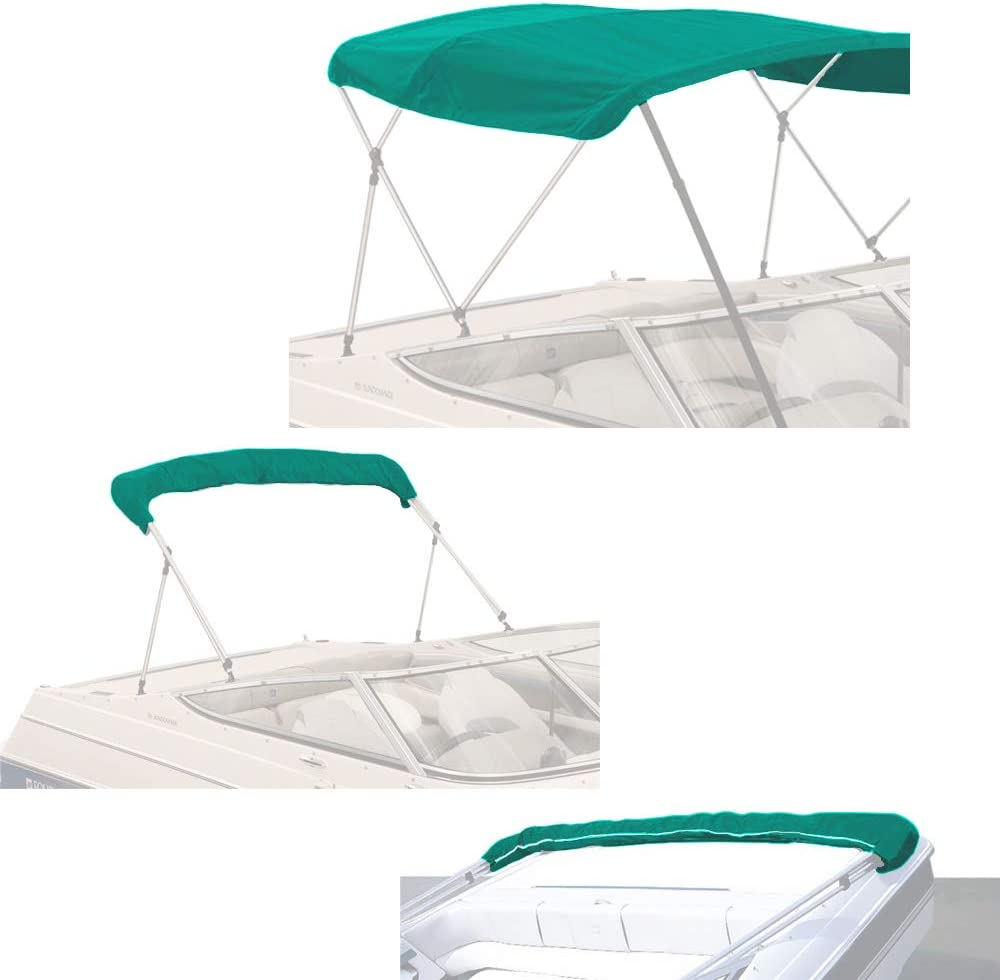 Savvycraft 4 Bow Bimini Reservation Top with Cover Zipper Canvas Store Replacement
