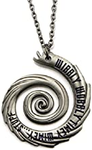 Inspired by Dr Who Doctor Who Wibbly Wobbly Timey Wimey Stuff Pendant Necklace Whovian Jewelry Silver