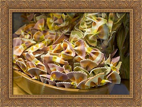 Young, Bill 24x17 Gold Ornate Framed Canvas Art Print Titled: Italy, Venice Bow tie Pasta in Bowl in Store