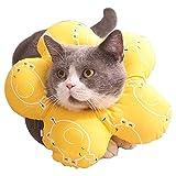No-Branded EACHPT Collare Elisabettiano per Gatti Regolabile Collare di Recupero per Gatti Collare di Sicurezza per Gatti Anti-morso Anti-leccata Collare Protettivo per Cani Gatto Animali Domestici M