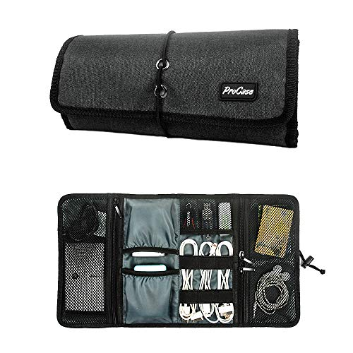ProCase Accessories Bag Organizer, Universal Electronics Travel Gadgets Carrying Case Pouch for Charger USB Cables SD Memory Cards...