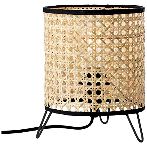 BRILLIANT WILEY Tischleuchte 21 cm Metall/Rattan Rattan