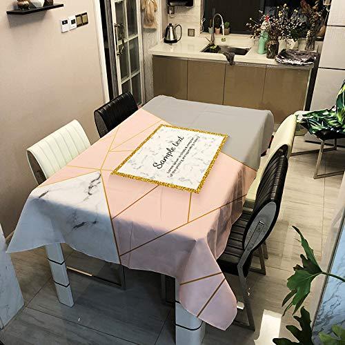 SHANGZHAI Stickserie, Tischdecke mit Polyesteraufdruck,Wasser- und ölbeständigeund schmutzige Tischdecke, Haushaltstischdecke, KaffeetischdeckeZB2010-5 90x90cm