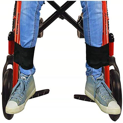 XER 2 Stück Rollstuhl Fußstütze Rollstuhl Fußraste Bein Zurückhaltung Gurt Rollstühle Bein Unterstützung zum Lähmung, Parkinson, Beine Krampf