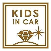 imoninn KIDS in car ステッカー 【シンプル版】 No.26 ダイアモンド (ゴールドメタリック)