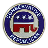 Online Stores, Inc. Conservative Republican Lapel Pin