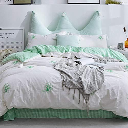 Cvthfyky Trousse de Textile de Maison pour Broderie en Coton lavé, Couleur à Choix Multiples, Vert, Jaune. (Couleur : Vert, Size : Standard)