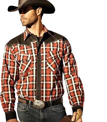 STARS & STRIPES Chemise western « Jayden » à carreaux pour homme - - XXL