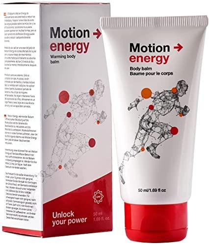 Motion Energy Crema de Efecto Calor para Músculos y Articulaciones Doloridos | Alivia el Dolor de Espalda, Rodilla y Cuello | Aceites Esenciales de Eucalipto, Romero, Canela y Jengibre 1Pack