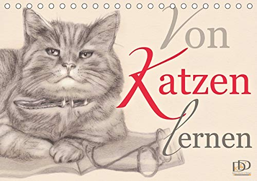 Von Katzen lernen (Tischkalender 2021 DIN A5 quer)