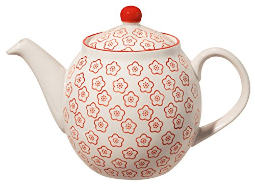 Bloomingville Teekanne Emma, rot, Keramik