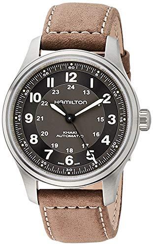 Hamilton Khaki Field H70545550 Reloj automático con esfera negra para hombre