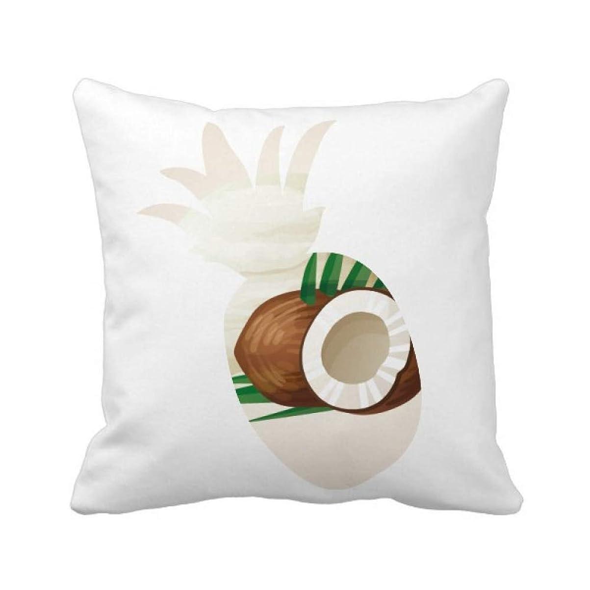 バケットネコアラート葉のココナッツアイスクリーム パイナップル枕カバー正方形を投げる 50cm x 50cm