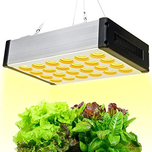Relassy LED Gartenbaulampe 1200W, dimmbares Wachstumslicht mit Dimmer, LED-Innenanbau 216 LEDs, Vollspektrum-Pflanzenlicht mit Blütenwachstum und Gänseblümchen-String-Funktion
