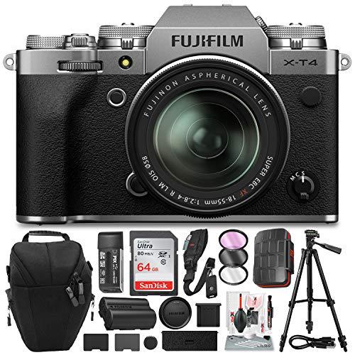 FUJIFILM X-T4 Mirrorless Digital Camera (Silver)...
