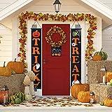 Vintoney Banners de Halloween, decoración para colgar banners de Halloween, truco o trato de Halloween decoración de puerta para Halloween suministros de fiesta decoración del hogar