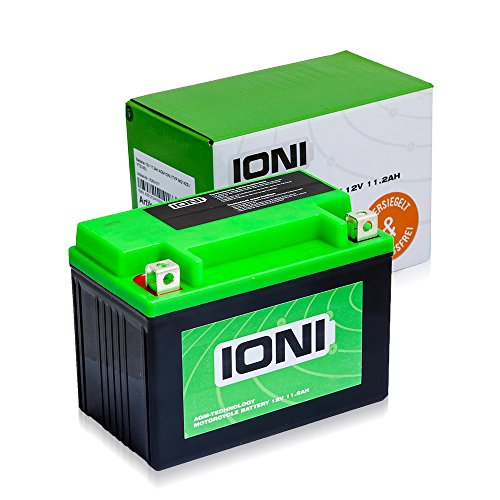 Motorrad Batterie 12V 11,3Ah AGM IONI ION (TYP MG14ZS / ähnlich YTZ14S)