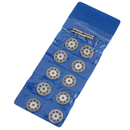 QiKun-Home Herramienta rotativa de 12 Uds, 20mm / 22mm / 25mm, Hojas de Sierra Circular, Discos de Rueda de Corte, Cortador de Mandril, Herramientas eléctricas, Plata 22mm