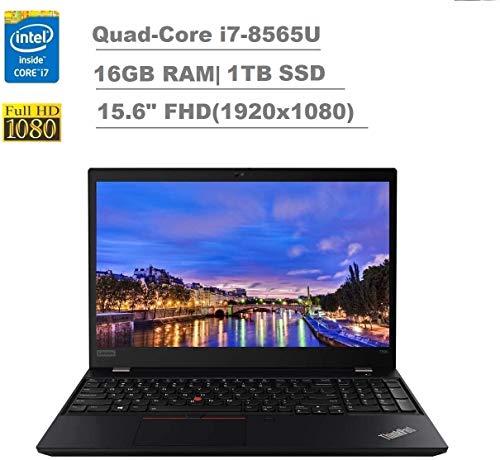 2020 Lenovo ThinkPad T590 15.6' FHD Full HD (1920x1080) Business Laptop (Intel Quad-Core i7-8565U, 16GB RAM, 1TB SSD) Backlit, Type-C Thunderbolt 3, RJ-45, Webcam, Windows 10 Pro IST Computers