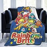 Atsh Rainbow Brite Ultra Soft Throw Blanket Flannel Fleece All Season Light Weight Living Warm