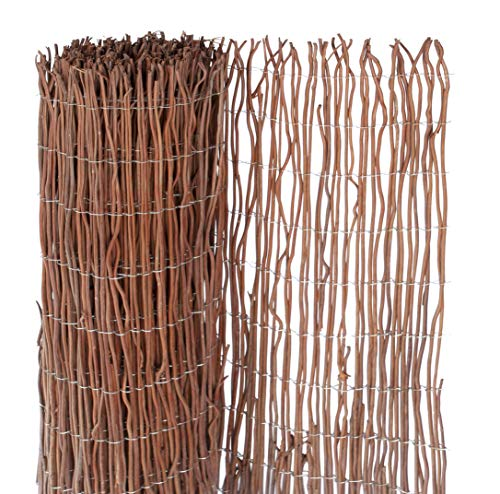Windhager 06632 Natte Brise Vue Osier Naturel Marron 2 x 3 m