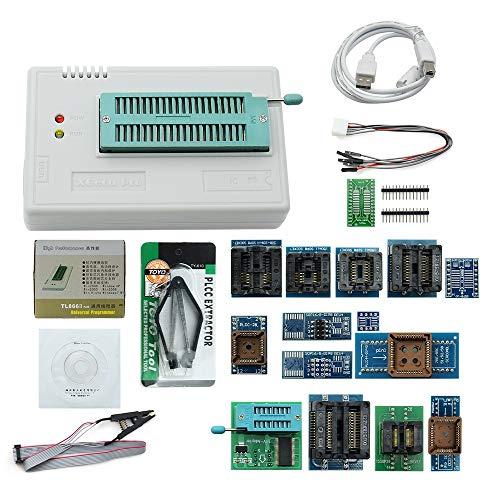 TOOGOO Neueste V8.33 Tl866Ii Plus Universal Minipro Programmer Tl866 Und Flash Avr Pic Bios USB Programmer + 17 Stuecke Adapter