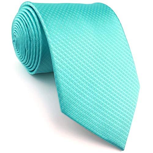 Shlax&Wing Neu Einzigartig Herren Seide Krawatte Türkis Einfarbig (Dünne Größe)