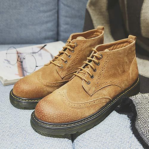 Shukun heren laarzen Martin laarzen mannen Platform hoge laarzen mannen laarzen gesneden laarzen Matte lederen laarzen