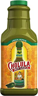 Best Cholula Green Pepper Hot Sauce | 64 Ounce Bottle | Crafted with Jalapeno and Poblano Peppers and Signature Spice Blend | Gluten Free, Kosher, Vegan, Low Sodium | Best Thing to Ever Happen to Food Review