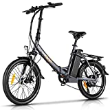Ebikes for Adults, VIVI Z3 Folding Electric Bike Adult Electric Bicycles 20 inch e Bike 350W Motor Professional Shinmano 6 Speed Gears with Removable 36V 10.4Ah Lithium-Ion Battery