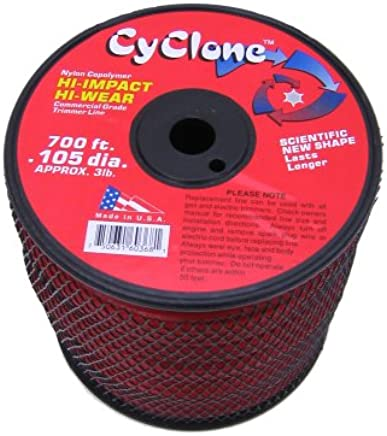 Cyclone .105-Inch 3-Pound Spool Commercial Grade 6-Blade Grass Trimmer