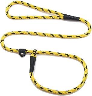 "Mendota Products Dog Slip Lead, 3/8""x4', Black Ice Yellow"