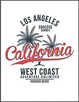 【ロサンゼルス カリフォルニア ヤシの木】 ポストカード・はがき(白背景)