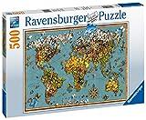 Ravensburger Puzzle, Puzzle 500 Piezas, Mundo de Mariposas, Puzzles para Adultos, Puzzle Mapamundi, Rompecabezas Ravensburger de Alta Calidad