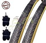 Deestone EBA28PAD 2 COPERTONI NEROPARA + 2 CAMERE d'Aria per Bicicletta Bici City Bike Tre...
