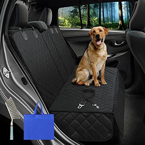 Tappeto Auto per Cani Coprisedile Posteriore Universale dell'Auto per Animali, Coprisedile Auto Cane, con cintura di sicurezza regolabile per cani e spazzole per pulizia e borsa per il trasporto