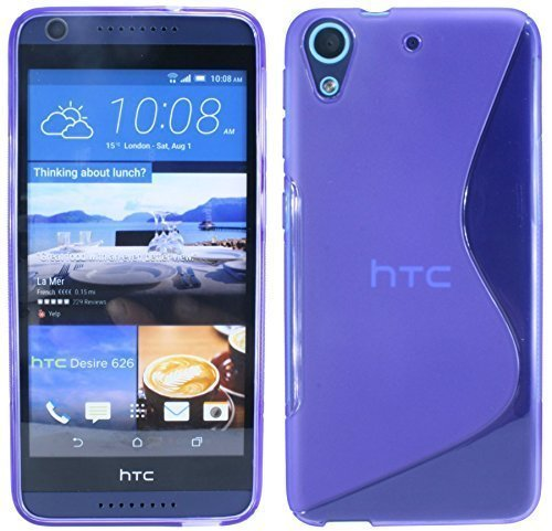 ENERGMiX S-Line TPU SchutzHülle kompatibel mit HTC Desire 626G Silikon Hülle in Lila