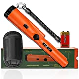 ForDoc Pinpoint Handheld Metal Detector pinpointer - Metal detectors for Adults and Kids Include a 9V Battery and a Belt Holster Orange
