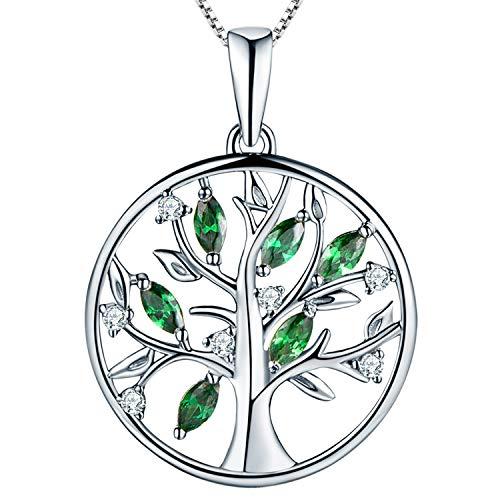 YL Lebensbaum Kette Damen-925 Sterling...