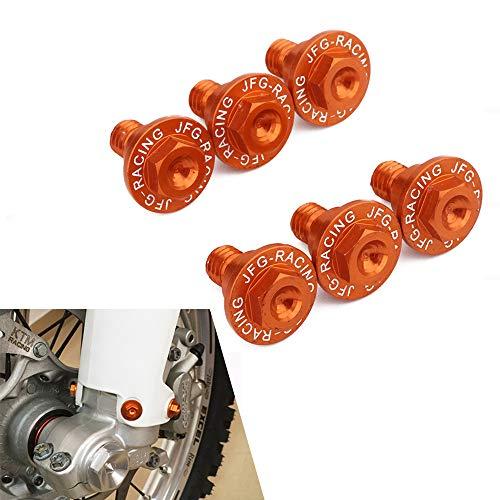 6PCS Bulloni di protezione forcella anteriore moto per K.T.M EXC EXCF SX SXF XC XCF XCW XCFW 50-530 FREERIDE 250F 250R 350 (arancione)