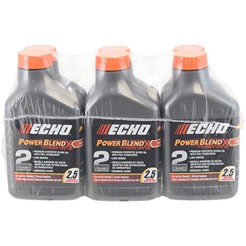 Echo 6450025 Power Blend Xtended – Aceite de 2 tiempos para 2,5 galones (50:1) 6 unidades