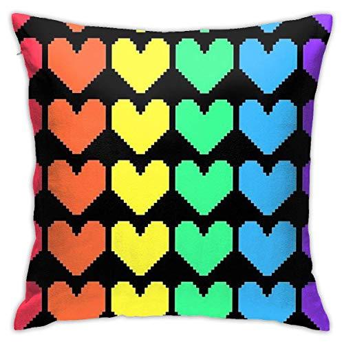 Lawenp Funda de Almohada Cuadrada para sofá de sofá Decorativa para el hogar con diseño de arcoíris para Dormitorio, 18 x 18 Pulgadas