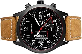 Curren Sport Watch for Men, Analog, Leather B and